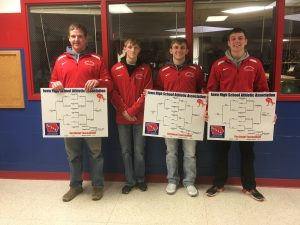 Four Cardinal Grapplers Advance to Districts