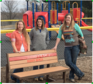 CD PTO Donates Buddy Benches to Elementaries