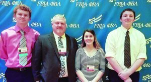 3 CD FBLA Members Attend Conference for the First Time; Kunze Places 6th