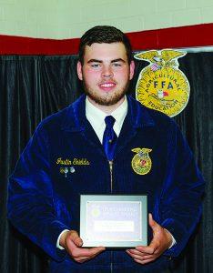 Shields Receives Coveted DEKALB Award During FFA Banquet
