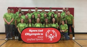 Cardinal Athletes Volunteer at Special Olympic District Basketball Skills Competition